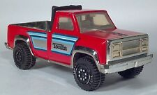 """DC Vintage 1970s Tonka Pressed Steel 7.5"""" Pickup Truck Red And Silver"""