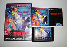RARE JEU SEGA MEGADRIVE - WONDER BOY IN MONSTER WORLD COMPLET