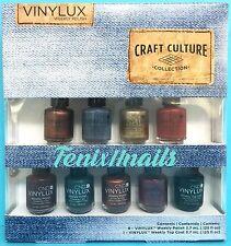 CND Vinylux Pinkies CRAFT CULTURE 9pc Mini Set ~ 8 Nail Polish Colors + Top Coat