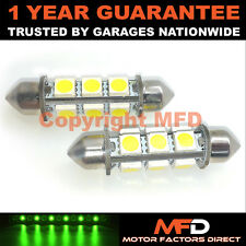2X VERDE CANBUS INTERIOR MATRÍCULA 8 SUPER BRILLANTES SMD BOMBILLAS LED 42MM