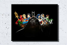 Justice League framed canvas Wall Art Superman, Batman, Wonder Woman, The Flash