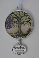 aa Grandma your love is a blessing TREE OF LIFE ORNAMENT Car charm ganz