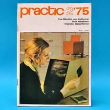 DDR practic 2/1975 Wasserfahrrad Raumteiler Practica Blumenbank Drehzahlmesser R