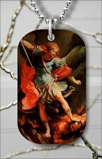 "ARCHANGEL RAPHAEL DOG TAG PENDANT and ""FREE CHAIN"" -gf65x"