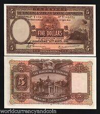 HONG KONG CHINA $5 P173E 1946 HSBC UNC LARGE RARE CURRENCY MONEY BILL BANK NOTE