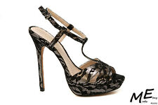 New Charles by Charles David Tangy Pump Women BlackLace Sandals Sz7 (MSRP $130)