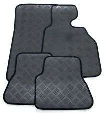 Perfect Fit 3mm Thick Rubber Car Mats for Nissan Micra 02  - Black Ribb Trim
