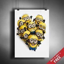 A3 CATTIVISSIMO ME MINION LOVE MOVIE POSTER 42X30CM wall deco stampa regalo per i bambini