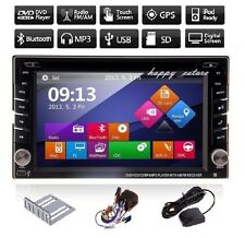 """6.2"""" Car DVD Player 2 Din In Dash Touch GPS Navigation Bluetooth Stereo TV Radio"""