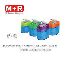 Mobius and Ruppert (M+R) 2 hole Neo Light Oval MAGNESIUM Pencil sharpener