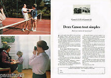 PUBLICITE ADVERTISING 055  1980  CANON  appareil photo  A 35 F & CANNONET 28 (2p