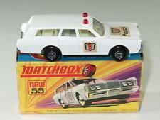 MATCHBOX SUPERFAST 55 Mercury Police Car VVNM in I1 Box First Issue Stickers