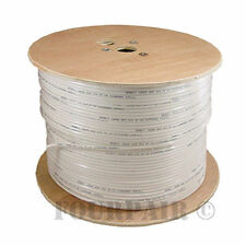 RG6 Plenum CMP 3GHz Coaxial Coax Cable HDTV Digital Satellite TV White - 500ft