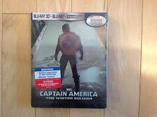 Captain America The Winter Soldier 3D Limited Edition Steelbook Blu Ray-Canadian
