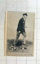 1923 Munich Engineer Herr Gerhardt On His Invention Motor Skates