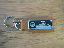 Audi Data Plate Leather Keychain Quattro R8 A3 A4 A7 A8 RS4 RS5 RS6 TT Cabriolet