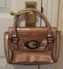 GUESS ~ GORGEOUS FAUX CROC LEATHER SMALL HANDBAG IN GOLD ~ NEW