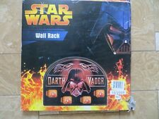 Darth Vader WALL RACK Lucas Film Star Wars Open Box Never Used Action Figure old