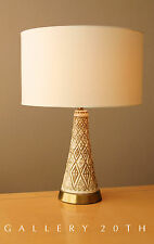MID CENTURY MODERN CERAMIC TABLE LAMP! Vtg 1950's Jo Wallis Design Decor Atomic
