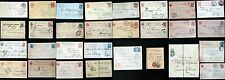 RUSSIA  1879-1917  30  STATIONERY  ITEMS  USED  CANCELS!