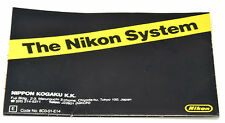 NIKON System Guide A2 Folded - F3 Era - English -