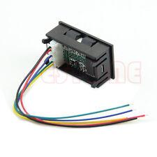 Dual LED Digital Voltmeter Ammeter Amp Volt Meter + Current Shunt DC  100A 100V