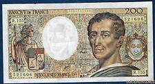 200 Francs Montesquieu Type 1981 - 1994 R.155 (06) Qualité TTB +