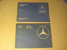 "1981 MERCEDES 380SL 380SLC OWNERS MANUAL ORIGINAL AND ""FAST FREE U.S. SHIPPING"""