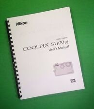 COLOR PRINTED Nikon Camera S1100pj Manual, User Guide 216 Pages FREE SHIPPING