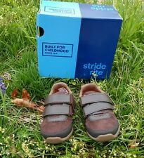 New Stride Rite SR Monte Brown Shoes Boy Toddlers Size 6 M