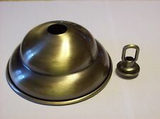 ANTIQUE PLATED DEEP CANOPY WITH LOOP FOR LIGHT FIXTURES LAMP PART NEW 54677J