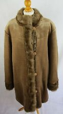 Dennis Basso Faux Fur Reversable Coat - Size Large