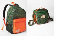 GAP KIDS BOYS BACKPACK BAG LUNCH BAG SCHOOL CAMOFLAUGE ORANGE SENIOR NYLON NEW