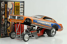 1971 DODGE CHARGER WHITE BEAR Quarter DRAGSTER FUNNY CAR 1:18 AUTO World ERTL
