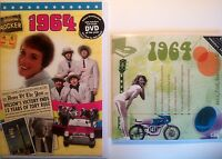 1964 (52nd) Birthday Gifts Set - 1964 DVD , CD and Card - CD Card Company.