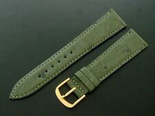 FINE Men's 20mm Olive Green Ostrich Watch Band/Strap