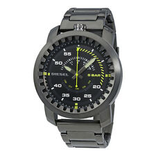 Diesel Rig Black Dial Gunmetal Stainless Steel Mens Watch DZ1751