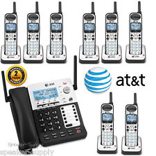 AT&T SYNJ Corded SB67138 w/ 8 Cordless SB67108 Handsets DECT Phone System 4 Line