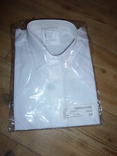 "ROYAL NAVY MANS EXTRA LONG SLEEVE WHITE SHIRT SIZE 40CM 15.3/4"" GENUINE RN ISSUE"