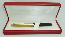 Sheaffer Intrigue Black and Gold Fountain Pen, F 14k Gold Nib