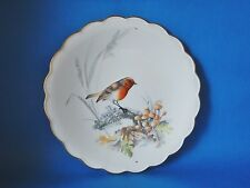 ROYAL WORCESTER  BIRDS OF DOROTHY DOUGHTY PLATE COCK ROBIN IN AUTUMN WOODS