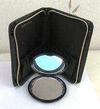 Estee Lauder Mini Black Patent Make Up Case & Double Mirror -  New