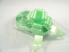 Lime Green Florist's Pull Bows by Oasis - 1.25 inches wide. Box of 30