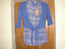 cotton traders blue 2 part set check shirt btand new with tags
