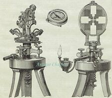 1876 Breithaupt's Patent Mining Theodolite 2 Page Article A304