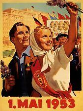 PROPAGANDA SOVIET UNION MARX ENGELS LENIN STALIN ART POSTER PRINT LV7038