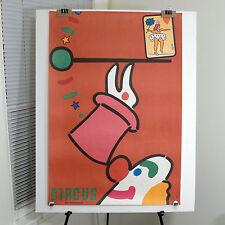 Polish Cyrk Circus poster Jan Mlodozeniec (Młodożeniec) clown balancing hat