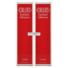 "Callas Eyelash Adhesive Clear 0.17 fl. oz. / 5 ml ""Pack of 2"""