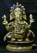 Ganesha der Sohn von Shiva  aus Messing   26 cm hoch 3,3kg schwer