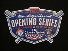 MLB Texas Rangers Houston Astros Opening Series 2013 Baseball Fan T Shirt XL
